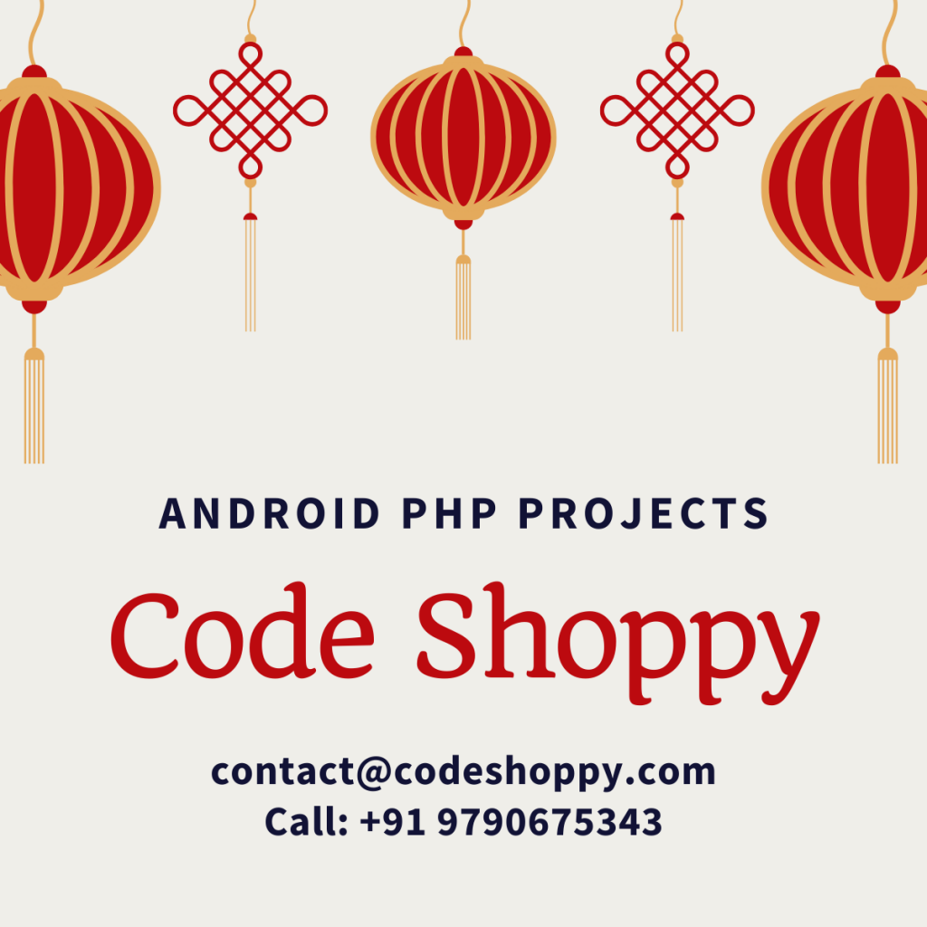 Online Shopping E-Commerce Android App Project